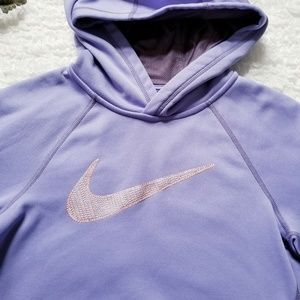 Thermafit Nike Purple Hoodie with Unique Swoosh